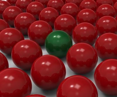 Unique Sphere Showing Uncommon Exception by Stuart Miles / freedigitalphotos.net *