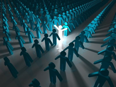 One Person Standing Out In A Crowd Stand Out From The Cro...