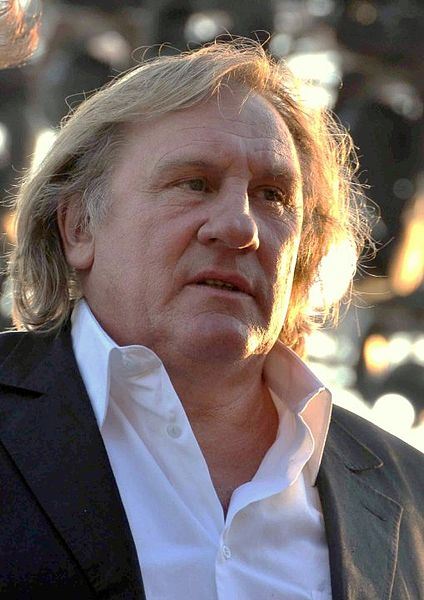 Gérard Depardieu (2010) photo by Georges Biard / wikimedia *