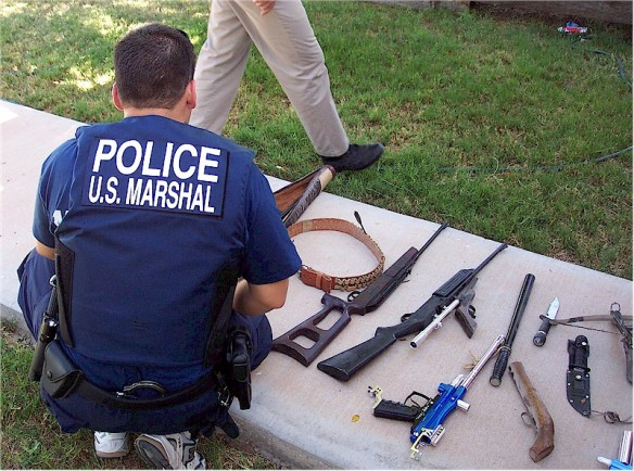 United States Marshals seized weapons / wikimedia *
