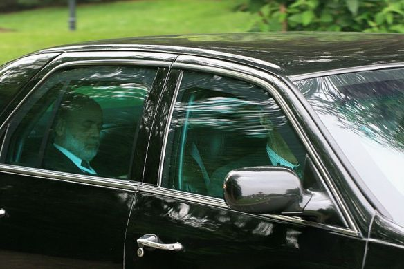 Ben Bernanke leaving the 2008 Bilderberg Conference / wikimedia
