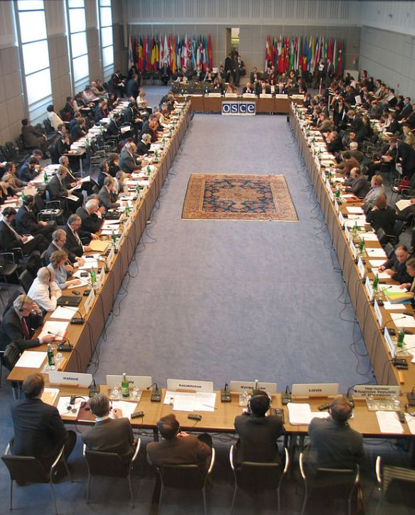 OSCE Permanent Council in Vienna, 2005. Photo by Mikhail Evstafiev / Wikimedia *