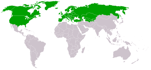 Organization for Security and Co-operation in Europe (OSCE) membership (2005) / Wikimedia *