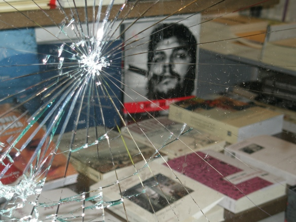 Bookstore in Athens after riots of December 2008, by Kostisl / wikimedia