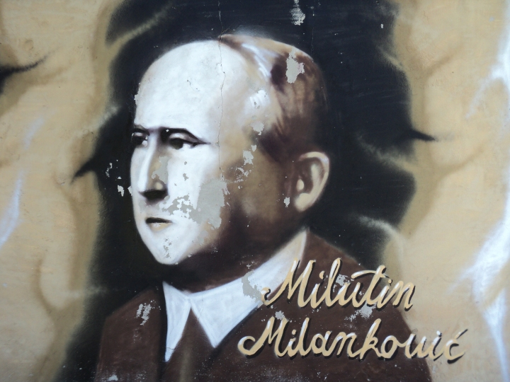 Graffiti portrait of Milutin Milanković, by Flammard / Wikimedia Commons (1)